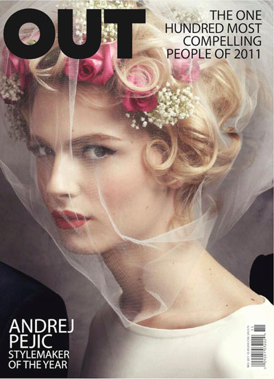 Pejic on the cover of Out Magazine in 2011.