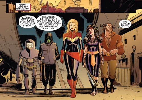 Captain Marvel with her awesome space posse.