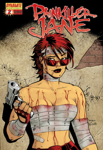 Painkiller Jane #2 cover by Amanda Conner