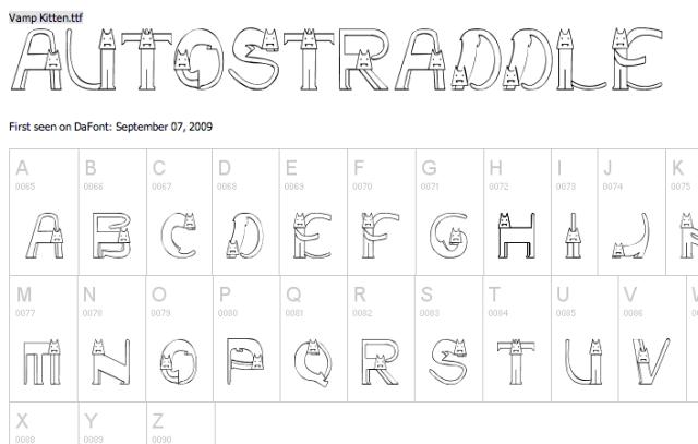 cats alphabet