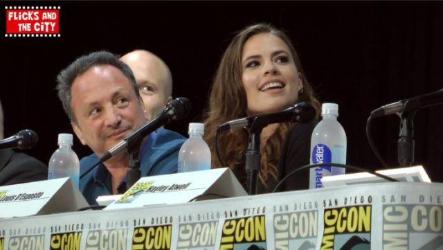 Haley Atwell at the Agent Carter panel at Comic-Con