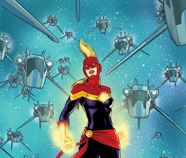 Carol Danvers as Captain Marvel. Art by David Lopez