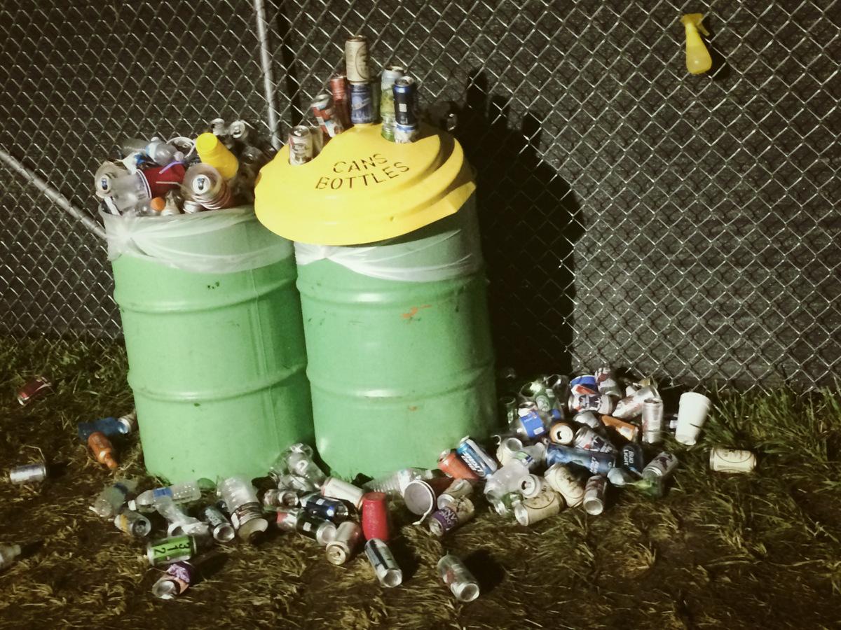cans bottles