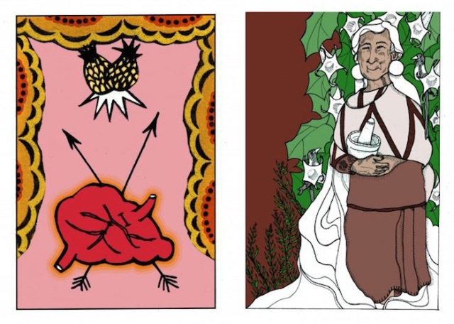 Leah shared these two images from the Collective Tarot - The Lovers and The High Priestess