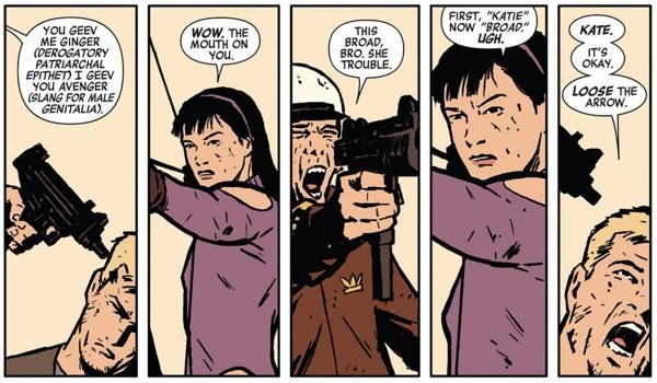 From Hawkeye #3 art by David Aja