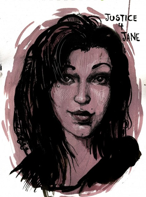 A representation of Jane Doe by Molly Crabapple