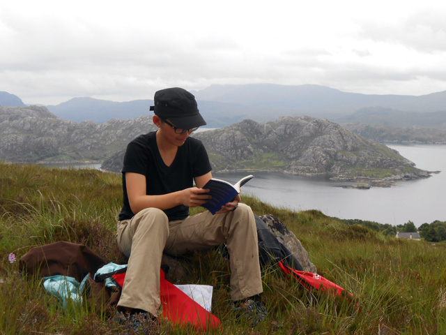 Reading Melissa Gira Grant's Sexing the Whore on top of a mountain overlooking Loch Torridon in the Northwest Scottish Highlands, as tourists do.