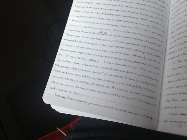 This page records the shining day my best friend and I purchased the final Harry Potter book in Buenos Aires, Argentina.