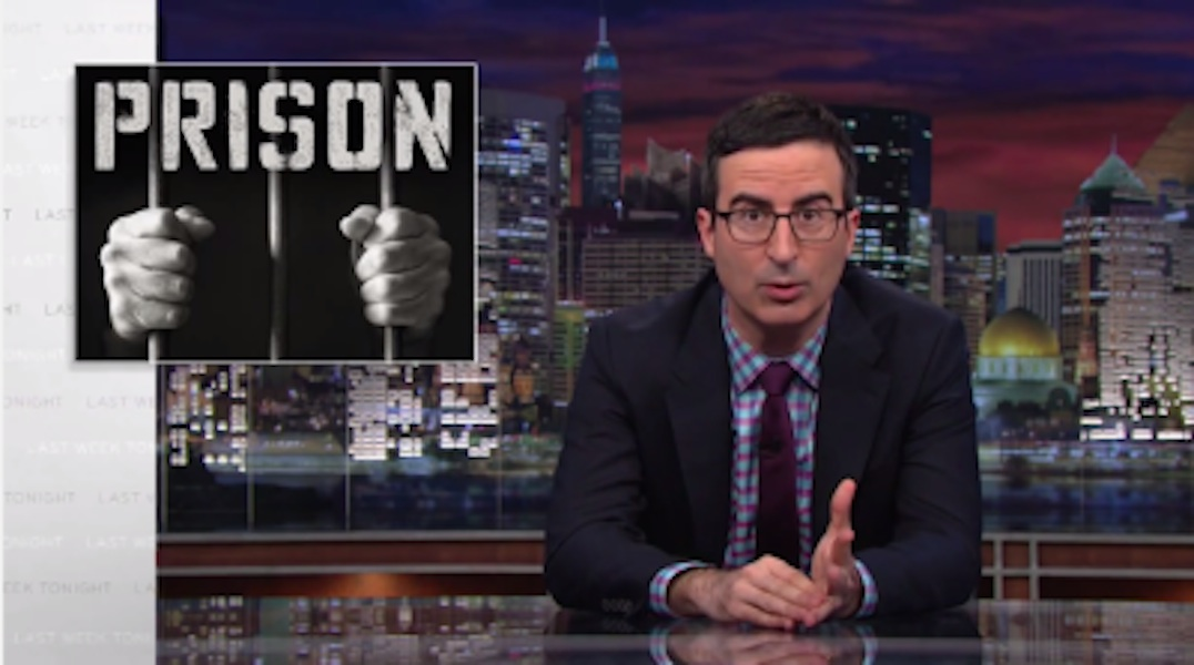 John Oliver Nails Seventeen-Minute Rant About America's Broken Prison System