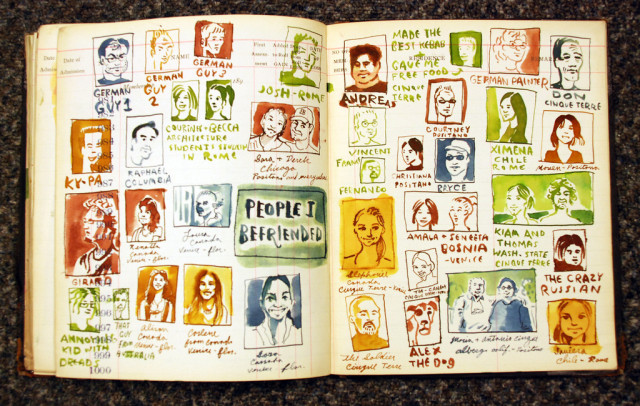 This is an amazing example of the intersection of people and journals. (Via Sketchbuch)