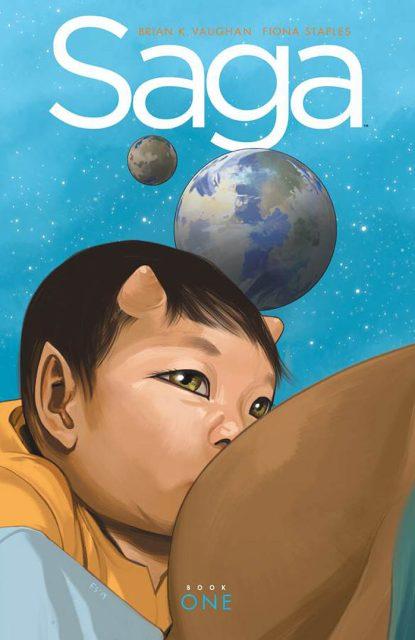 Saga Book One cover art by Fiona Staples