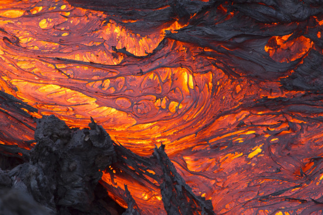 This is lava, it is also very hot, like the inside of my house
