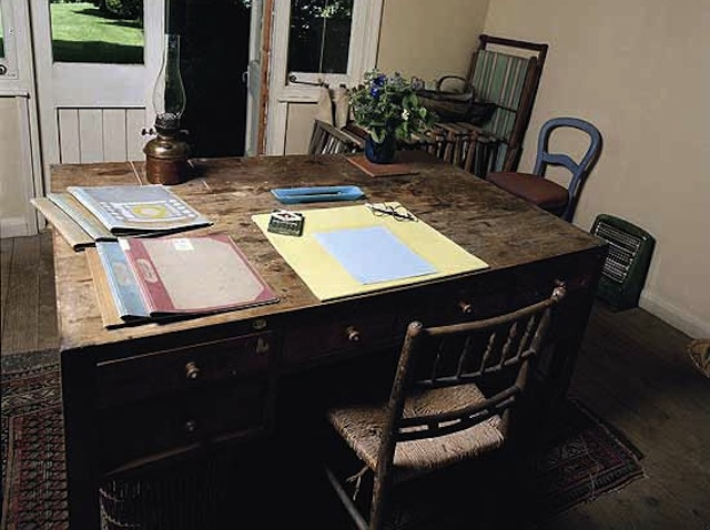 One of my chief regrets from my recent trip to the U.K. is that I didn't visit Virginia Woolf's writing studio. (Photo by Eamonn McCabe via The Guardian)