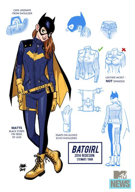 Batgirl's new costume complete with awesome Doc Martens via MTV
