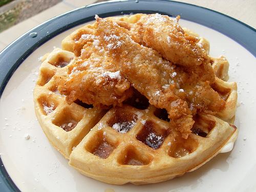 Chicken and Waffles Via blog.hopbunnies.com