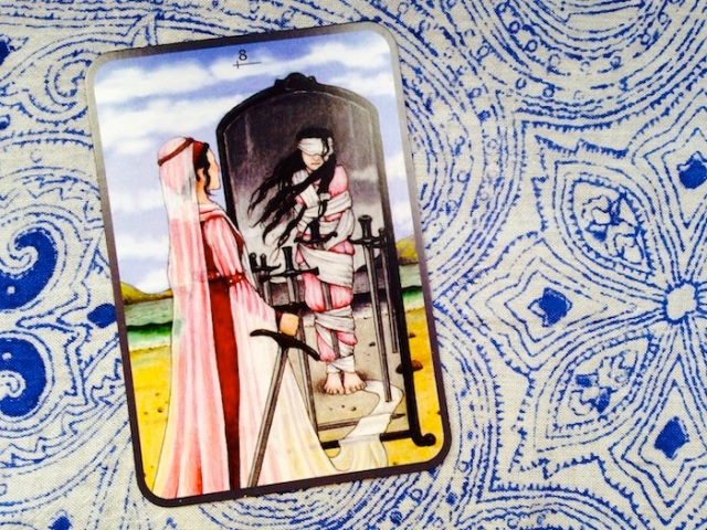 Eight of Swords from the Anna K Tarot