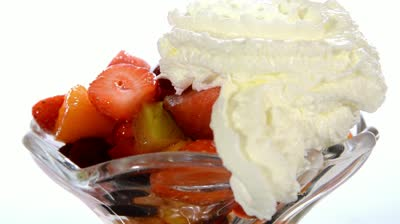 Fruit whipped cream Via shutterstock.com