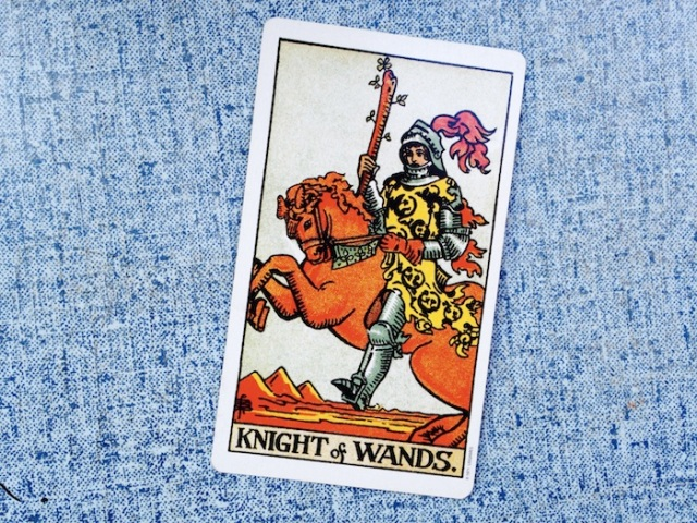 The Knight of Wands from the Rider-Waite-Smith Tarot