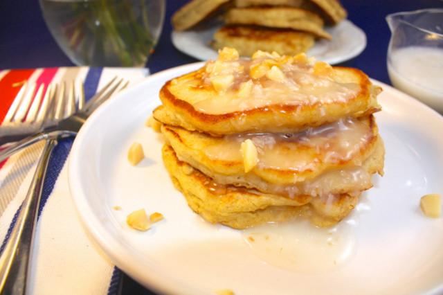 Pancakes with Macadamia Nuts Via foodaffair.com