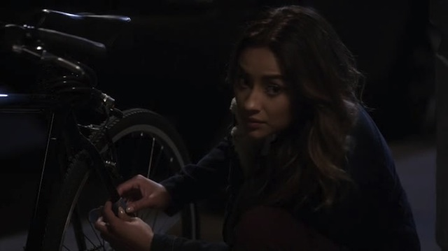 The unchained bike is a symbol of Paige's freedom