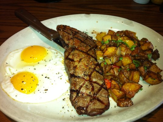 Steak and Eggs Via adorkablelife.com