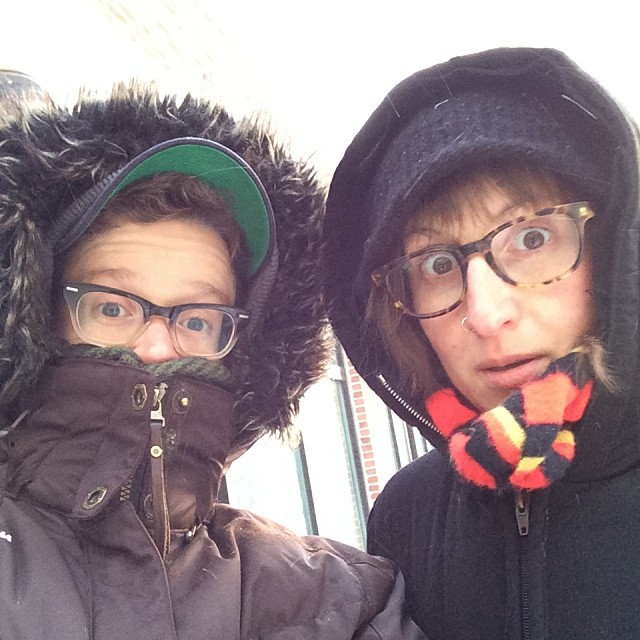 my boo and me in negative 40 degree weather