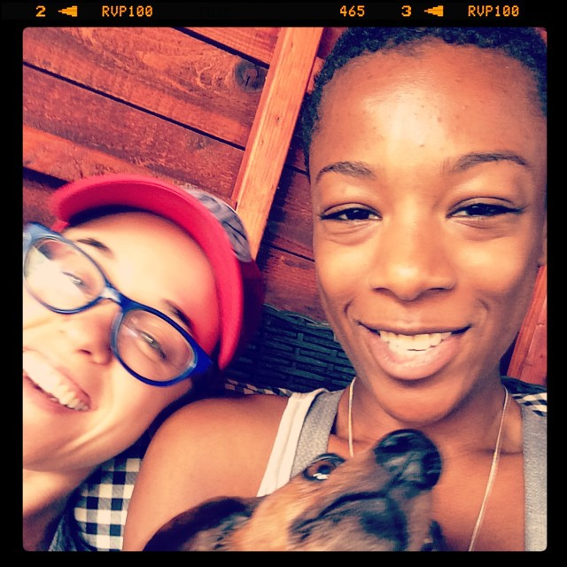 hahaha we're cute lesbians with puppies we win all the things lol