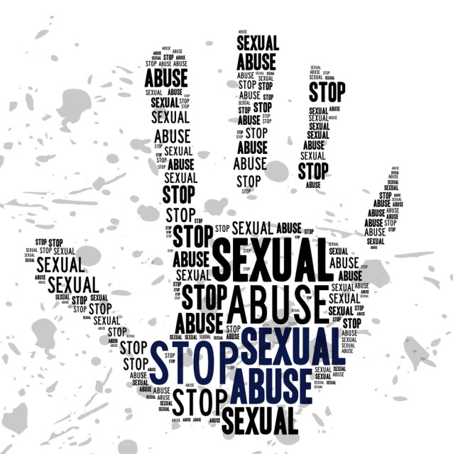 Via Shutterstock. Anti rape hand.