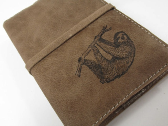 Abbie's next journal is emblazoned with a sloth. (Via inblue)