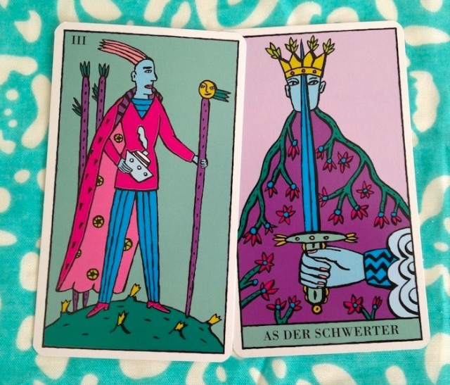 Ace of Swords / Three of Wands