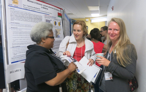 Three physicists meet at the International Conference on Women in Physics August 5-8, 2014 in Waterloo, Canada. Credit: Marina Milner-Bolotin/ICWIP. Via Scientific American.