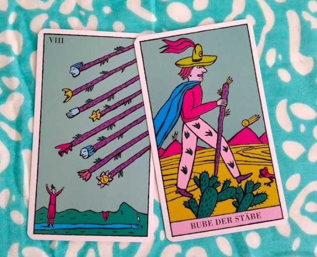 Eight of Wands / Page of Wands