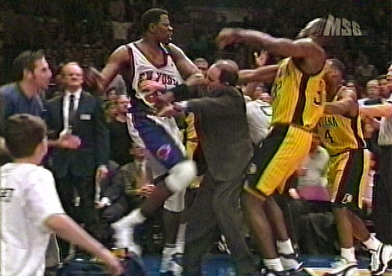 The infamous Pacers-Pistons brawl actually forced the NBA to tighten its policies around on and off-court violence via SportingNews