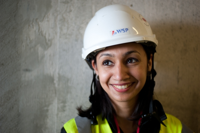 """Roma Agrawal: """"We have this problem of what an engineer should look like or does look like, that was maybe accurate in the past, but isn't today. There is a long way to go, but for me, it is important to show the diverse faces of engineering."""" (Image courtesy of Nicola Evans, WSP, via Nature.com)"""