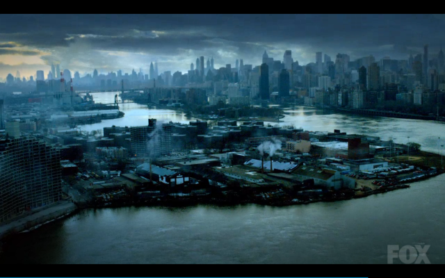 Just one of approximately one bazillion city shots we are sure to see through the Gotham series