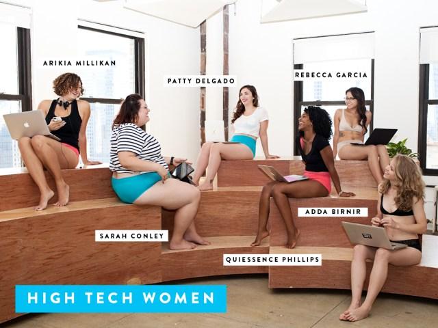 Women in tech pushing boundaries! Cue the backlash. Image via Dear Kate.