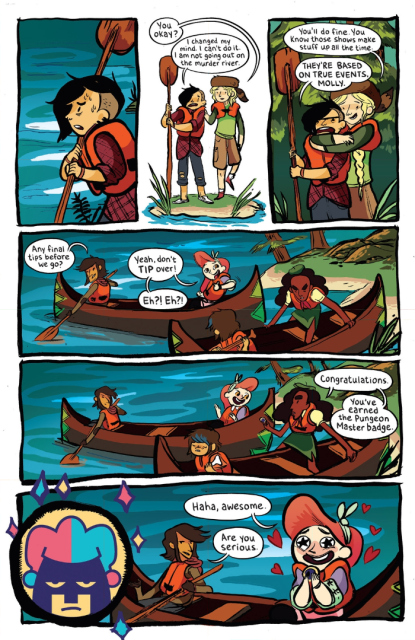 Some of the brilliant Lumberjanes writing