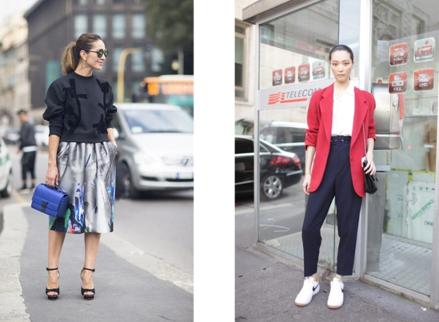 mfw street style from uk vogue and wwd