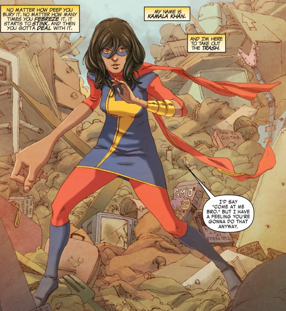 Ms. Marvel art by Adrian Alphona