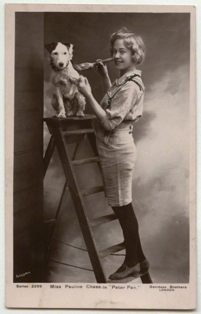 Pauline Chase as Peter Pan via The National Portrait Gallery