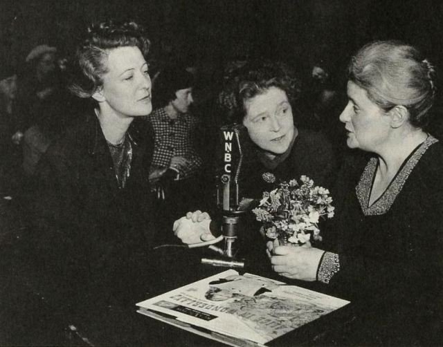 """Mary Margaret McBride interviews Peggy Webster and Eva Le Gallienne (""""it's a triumvirate of gay!"""") via deviates inc"""