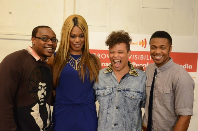 Reina Gossett (second from right) looking amazing in a denim button up. via srlp.org