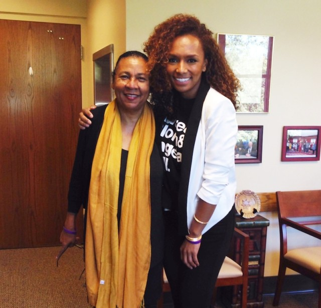 Janet Mock looking great in a t-shirt and blazer. Plus, bell hooks!