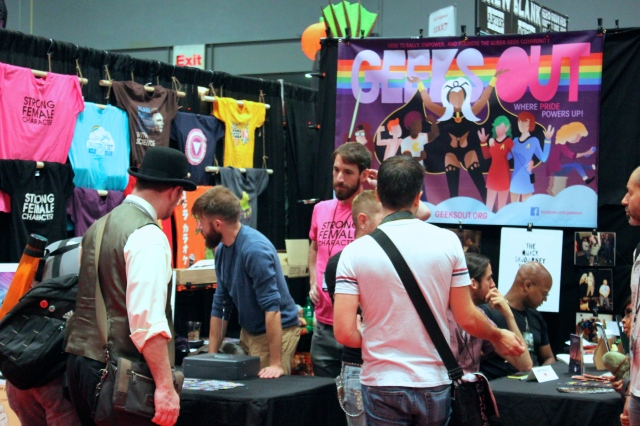 New York Comic Con 2014. The Geeks Out booth.