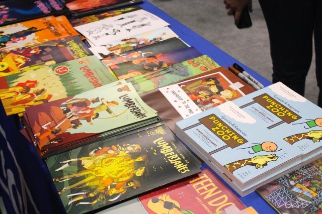 New York Comic Con 2014. Lumberjanes comics at the Boom Studios booth.