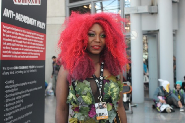 New York Comic COn 2014. Poison Ivy cosplay.