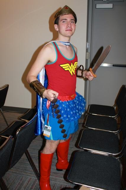 New York Comic Con 2014. Wonder Woman crossplay.