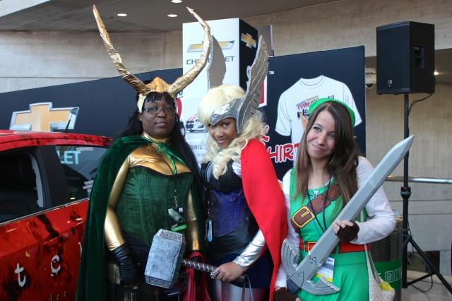 New York Comic Con 2014.  Cosplayers: Loki, Thor, Link.