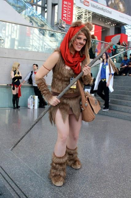 New York Comic Con 2014. Ewok Star Wars cosplay.