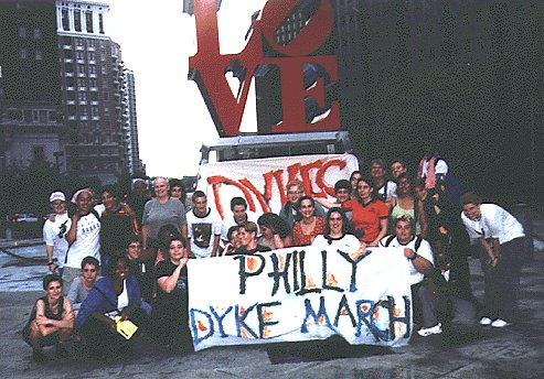 Dyke March in Love Park, 1999 via Philly Dyke March